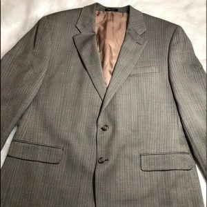 Other - IZOD Mens Gray Blazer 2 Button Size 46L 100% Wool